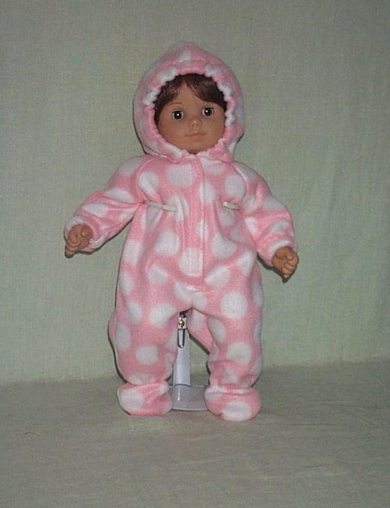 American Girl Bitty Baby Twin Girl Snowsuit Pink Polka Dot