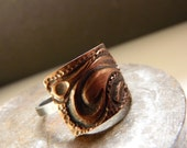 Ring Texture I - Sterling silver and copper