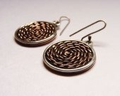 Braid Earrings - Sterling silver and copper