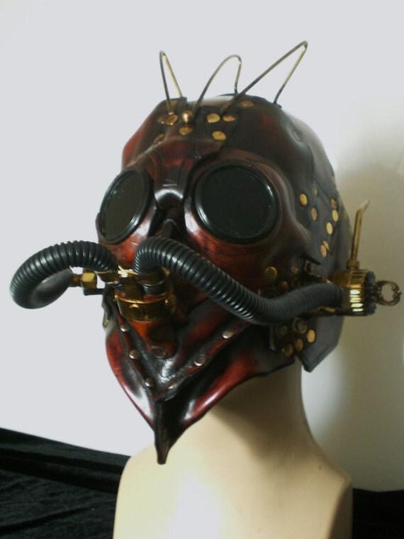 steampunk cyberpunk mask helmet armor wasteland raider