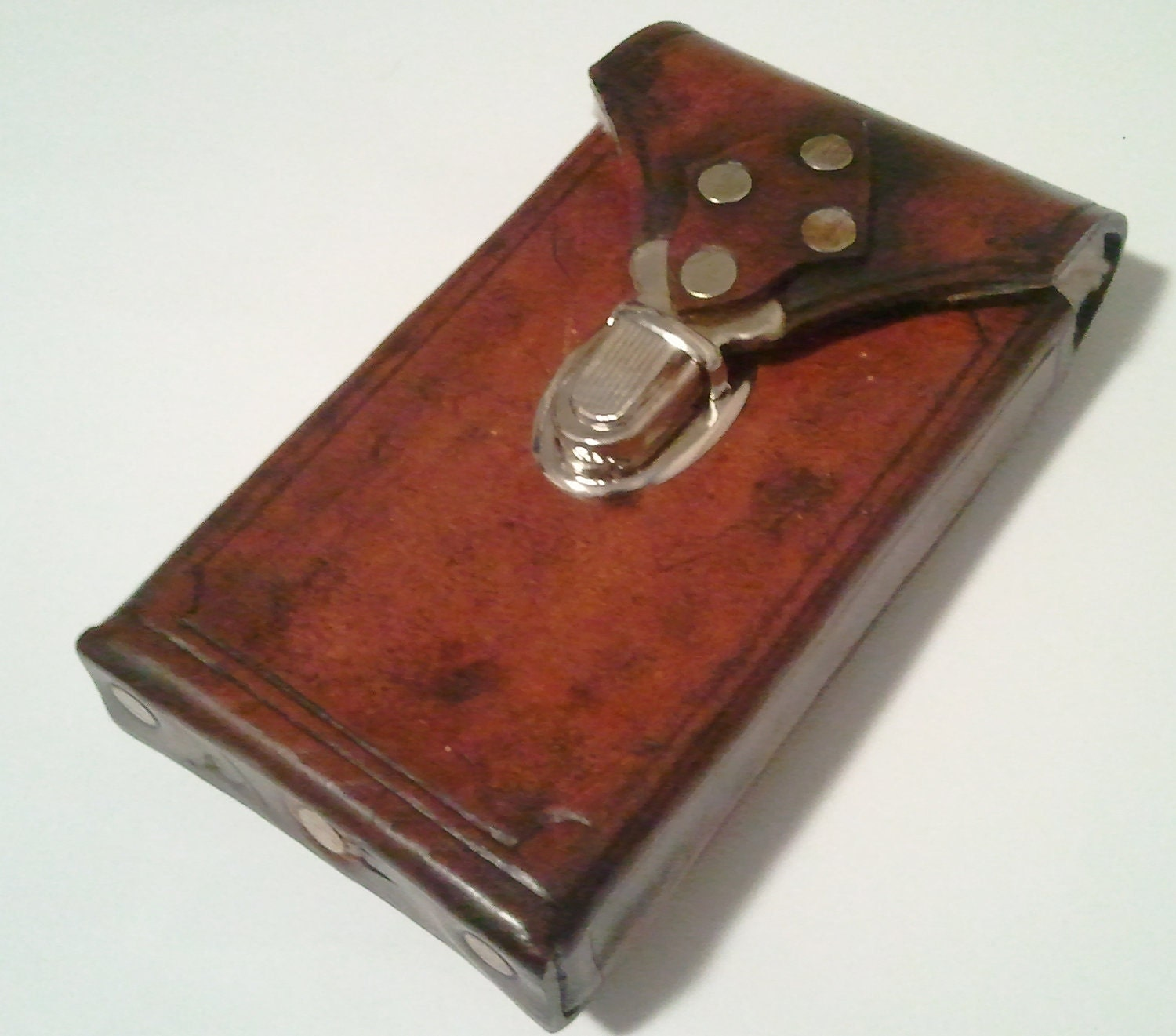 Steampunk Leather Cell phone Case Made to fit most android