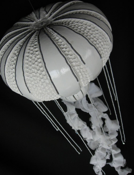 Jellyfish Gourd  Lamp  OOAK Japanese Stinging Nettle