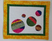 Scrappy Wall Art Quilt  or Quilted  Mug Rug
