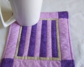 Mini Quilt Two Tone Purple  Amish Style