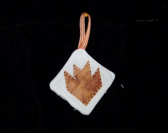 Batik Bear Paw Quilted Ornament