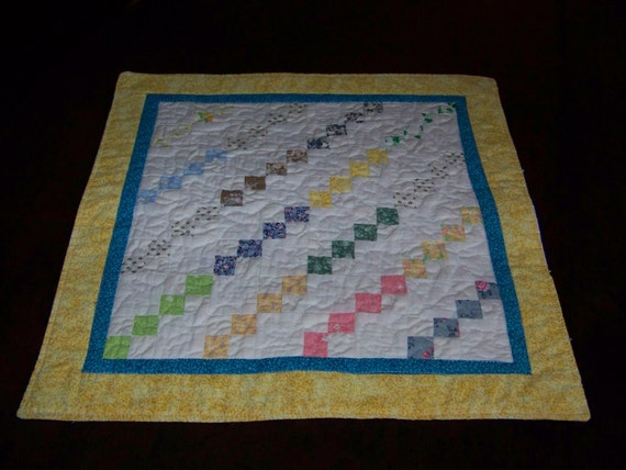 Small Four Patch Table Runner/Candle Mat.