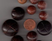 Brown Leather Button Lot
