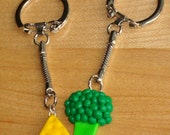 Broccoli and Cheese Best Friend Keychains