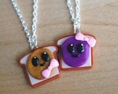 Peanut Butter and Grape Jelly Best Friend Necklaces