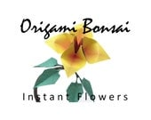 One Dozen (12) Origami Bonsai Instant Flowers