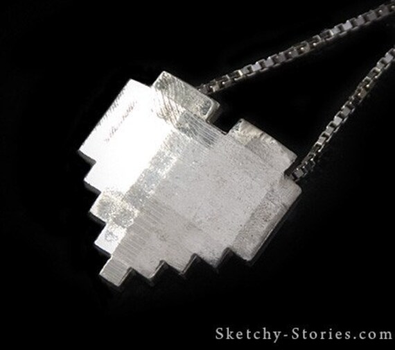 8-Bit Heart Pendant