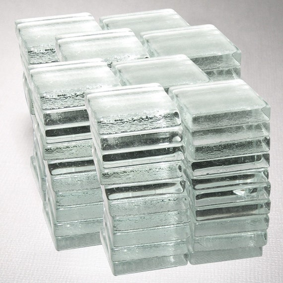 80 Small Square Glass Tiles
