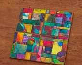 Handmade Paper Colorful  Coasters