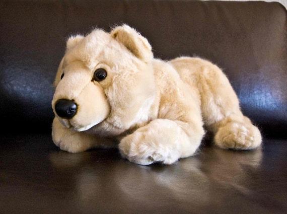 Polar Bear Plush Stuffed Animal with oversized handcrafted graphic vagina MATURE dirty santa