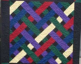 Reduced Log Cabin Weave Wall Quilt