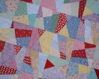 Quilt Crazy Four Patch Handmade Contemporary Wall Hanging