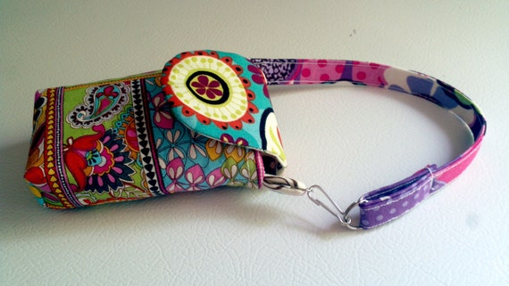 Flower Power Cell Phone/ Camera/ iPhone Case Wristlet