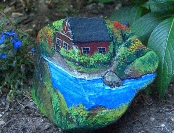 A River Runs Through It Beautiful Painted Rock Of Riverside
