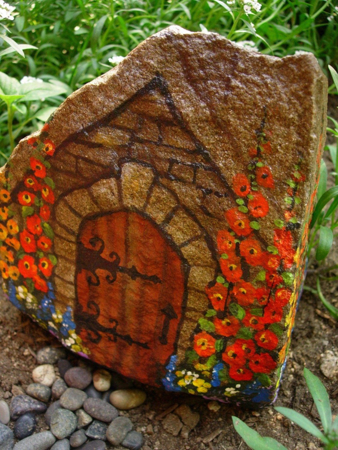 Commoners Quarters Hand Painted Rock Art