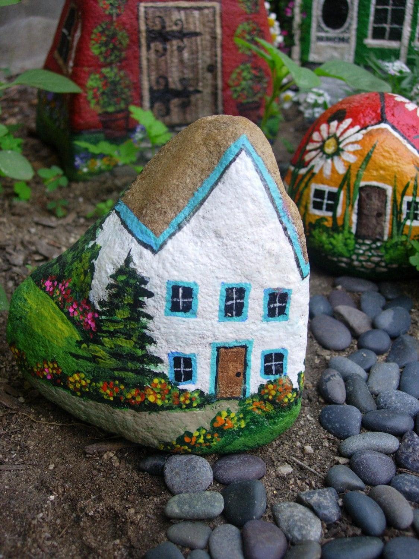 Рисунки на камнях для дачи фото 2 фотография