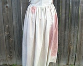 Raggedy Distressed Tea Dyed Wine Stained Peasant Wench Renaissance Skirt