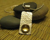 amber champagne pendant - citrine and sterling silver