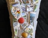 Mosaic travel vase