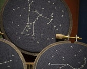 Reading the Stars - hand embroidered constellations