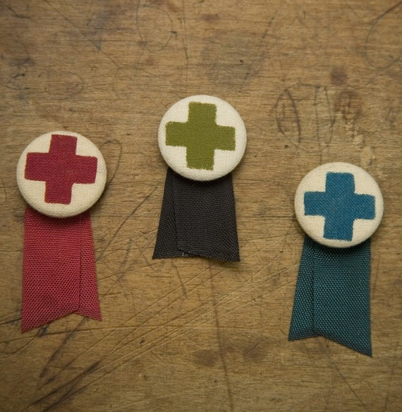 Cross Badge with Ribbon
