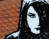 Lisbeth Salander Girl with Dragon Tattoo vinyl sticker