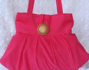 On Sale - SMALL and SASSY BAG - in Hot Pink Corduroy - Ready to ship