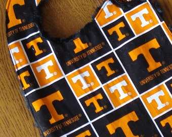 University of Tennessee Minky Baby/Toddler Bib