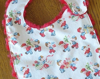 Retro Valentines Day Mail Carrier Baby/Toddler Bib