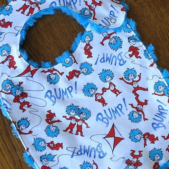 Thing 1 and Thing 2 Dr. Seuss Minkie Baby/Toddler Bib
