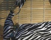 Zebra Hobo. An upcycled handbag.