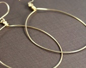 Gold Hoop Earrings, Large Gold Hoop Earrings, Hammered Earrings, Light Weight Gold Hoop Earrings, Disco Hoops, Big Gold Hoop Earrings