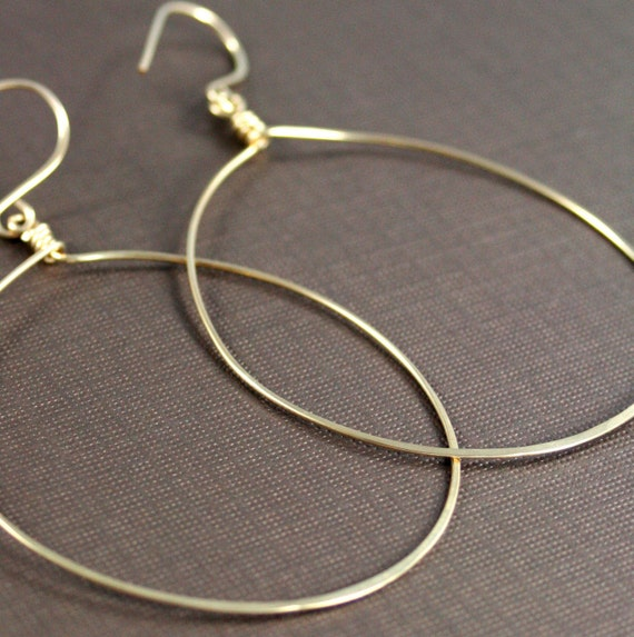 Gold Hoop Earrings, Large Gold Hoop Earrings, Hammered Earrings, Light Weight Gold Hoop Earrings, Disco Hoops, Big Gold Hoop Earrings