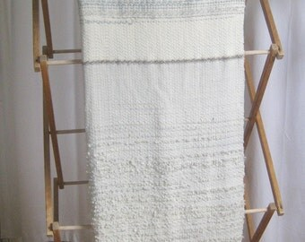 Woven Merino Wool Blanket, Hand-dyed with Snow Landscape
