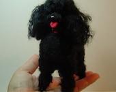 Needle felted dog custom Poodle sculpture portrait art
