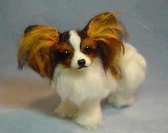 Pet Portrait custom needle felted dog sculpture memorial