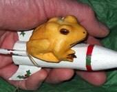 Missile Toad (mistletoe) OOAK