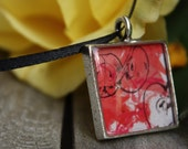 Red Apples Resin Pendant (Great Gift Mothers Day or a Teacher)