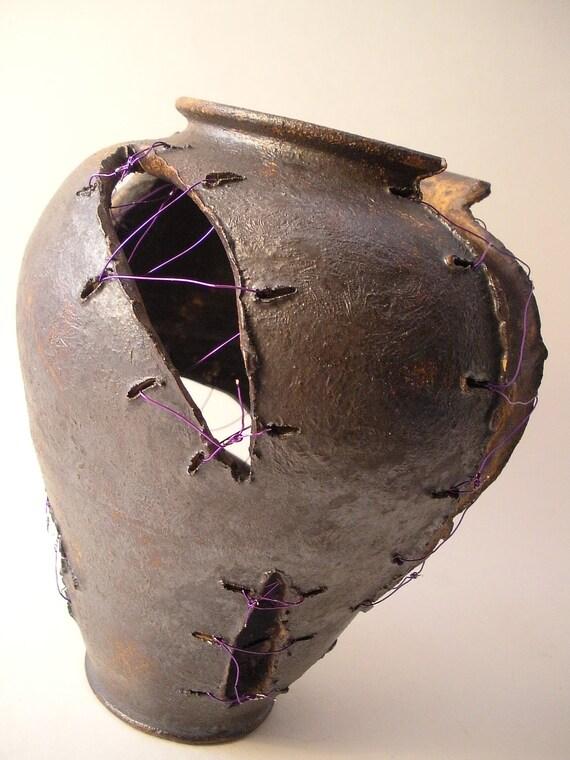 Purple Wired Frankenvase