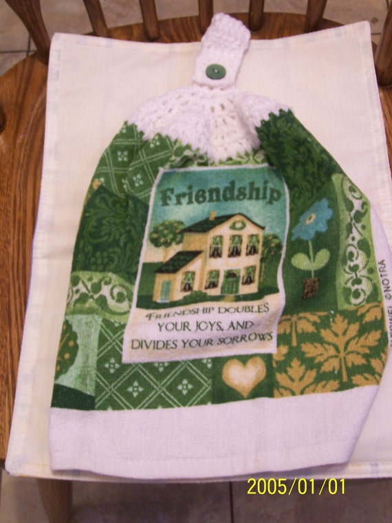 Friendship Crochet Kitchen Towel