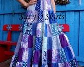 Lavender Blue Gypsy Halter Dress