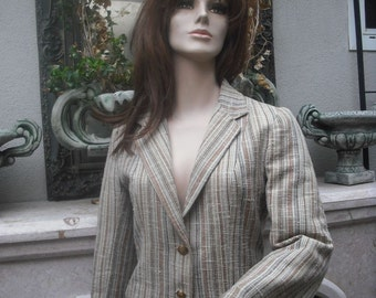 Vintage 80s Jacket/Blazer by Larry Levine /  Bust 36  Medium