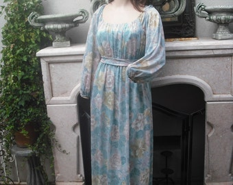 Vintage 1970s Emma Domb of California Maxi Dress  MEDIUM