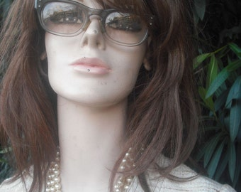 Vintage 60s/70s Eyeglasses, Elvis Costello type Eyeglasses, Academia or Preppy Eye Wear