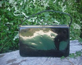 Vintage 1960s Patent Handbag I. Magnin Co.