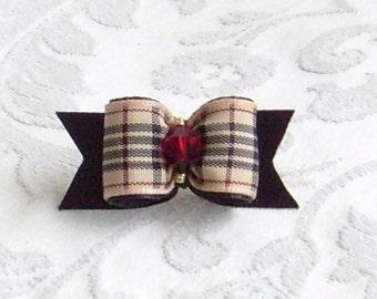 5/8  Furberry Plaid Bow